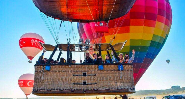 Kapadokya Balon Kalkışı ve Sepet